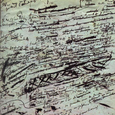 Page manuscrite de Flaubert