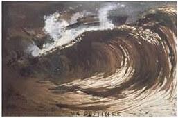 Dessin d\'une vague par Victor Hugo