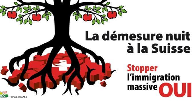 Campagne de l'UDC contre l'immigration dite de masse