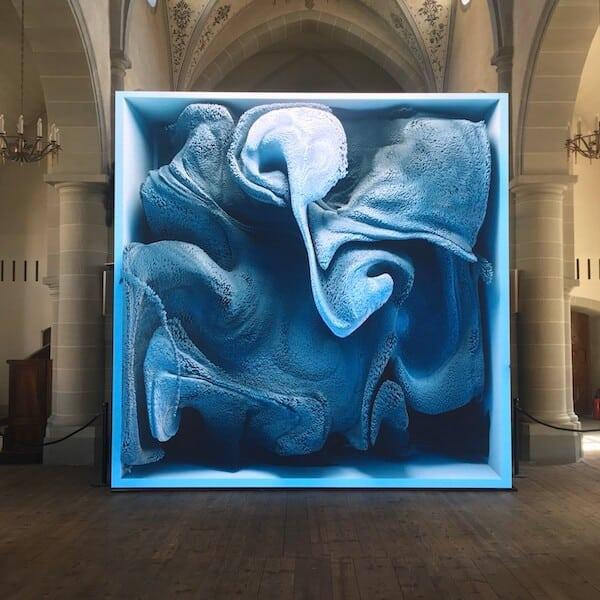 Oeuvre de Rafik Anadol, à Vevey Images (2020)